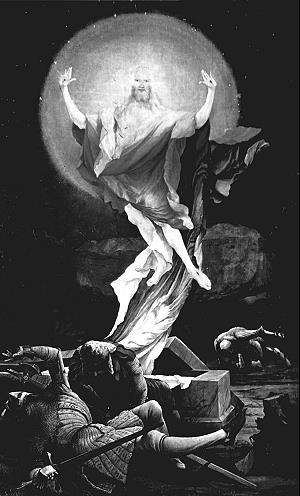 Altarbild auf dem Isenheimer Altars von Mathis Gothart Grünewald