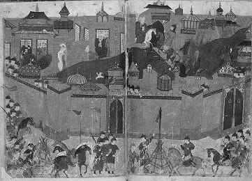 Die Mongolen unter Chülegü bei der Belagerung Bagdads