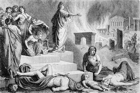 Der Brand von Rom im Jahr 64