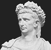 Eine Büste von Kaiser Claudius