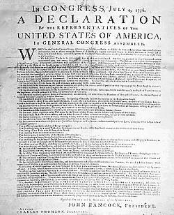 Declaration of Independence - Amerikanische Unabhängigkeitserklärung 1776