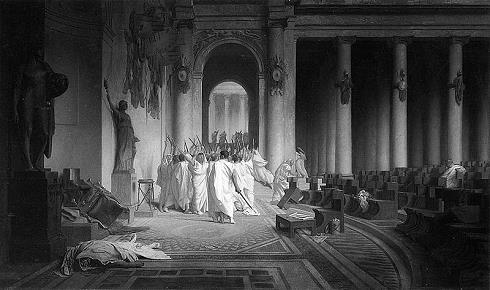 Gemälde Der Tod Cäsars von Jean-Léon Gérôme