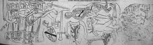Tod Simon de Montforts in der Schlacht von Evesham