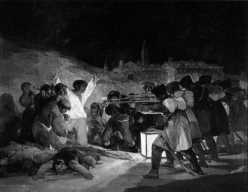Das Gemälde El tres de Mayo / Die Erschießung der Aufständischen von Goya