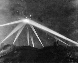 Der Himmel über Los Angeles während der Schlacht von Los Angeles