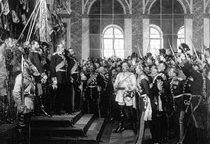 Deutsch-Französischer Krieg: Reichsgründung und Kaiserproklamation im Spiegelsaal von Versailles