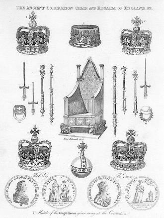 Eine historische Darstellung der britischen Kronjuwelen