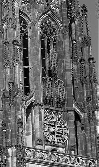 Noch heute an der Lamberti-Kirche zu Münster zu sehende Käfige