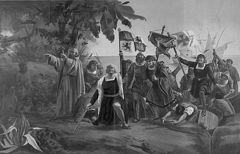 Die Landung der Spanier in der Neuen Welt