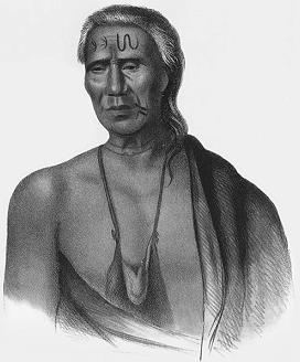 Ein Indianer vom Stamm der Leni-Lenape