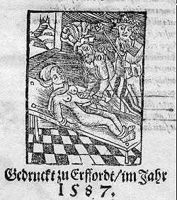 Ein deutsches Flugblatt zur Hinrichtung von Maria Stuart