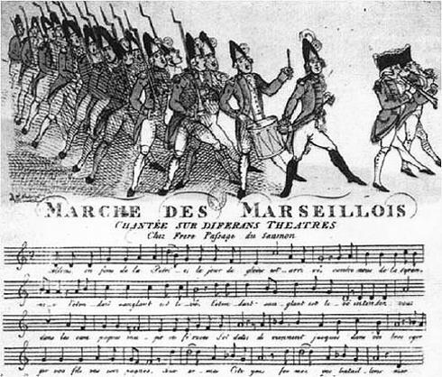 Noten der Marseillaise