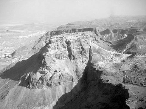 Die Überreste der jüdischen Festung Massada