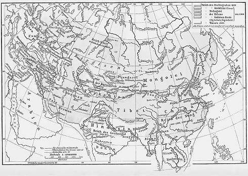Größte Ausdehnung des Mongolenreiches