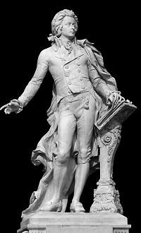 Wolfgang Amadeus Mozart. Copyright des Bildes: Vova Pomortzeff, Fotolia