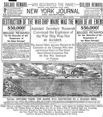 Titelseite des New York Journal