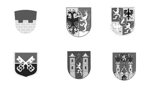 Die Wappen der Städte des Oberlausitzer Sechstädtebundes