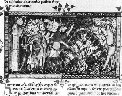Verbrennung von Jueden während den Pogromen von 1439