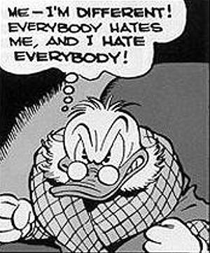 Das erste Auftreten von Scrooge McDuch / Onkel Bagobert in der Geschichte Christmas on Bear Mountain