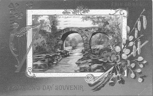 Amerikanische St. Patrick's Day Karte aus dem Jahr 1912