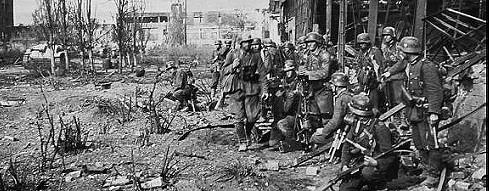 Soldaten bei der Schlacht von Stalingrad