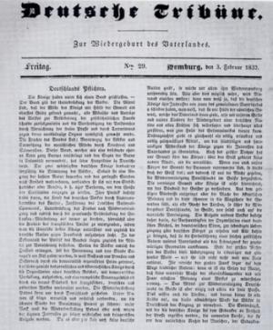Die Tribüne - Sprachrohr des Deutschen Pressvereins