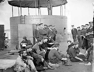 Besatzung an Bord des Panzerschiffs USS Monitor