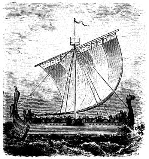 Darstellung eines Wikingerschiffs